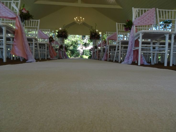 Elegant wedding ceremony aisle decor