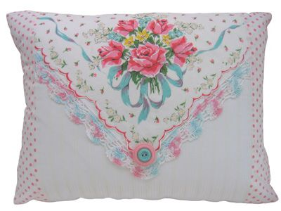 Decorating With Vintage Handkerchiefs and DIY Hankie Craft Ideas : make a pillow    : Hometalk