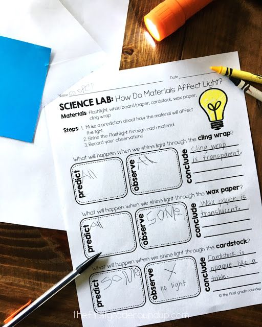 Light & Materials Science Experiments - Firstgraderoundup