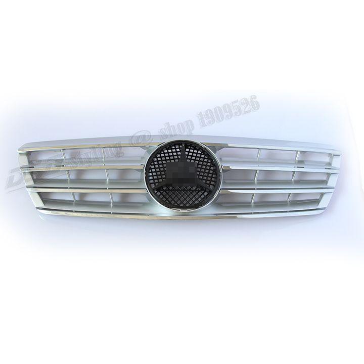 Mercedes W203 ABS Silvery Grill Grille for 00 06 W203 4 Door Sedan C180 C200 C220 C240 C270 C280 C320 C350