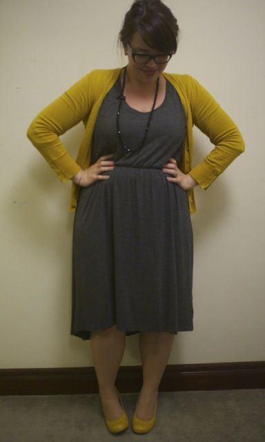 I would wear this for teaching all through the fall and winter months. This color combo is adorable.