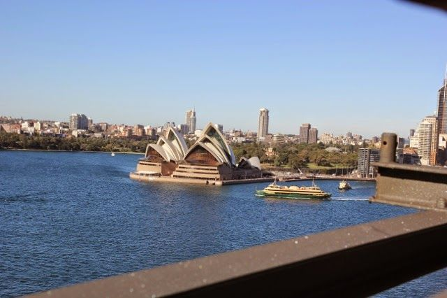 The view from Sydney Harbour Bridge. From Sydney on Foot: The Three Bridges Walk
