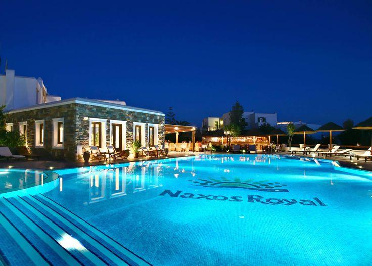 Naxos Resort Hotel - Built a few yards from the endless sandy beach of Agios Georgios -enquiries aegean@thesaurus.gr
