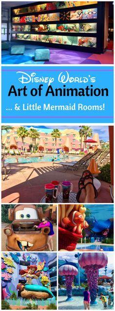 Is Art of Animation Little Mermaid Room the best choice for your Disney World Resort money? All the fun details of a stay in a Little Mermaid Room. From the Awesome Cars and Finding Nemo pools, to the drawings and character designs you'll find throughout
