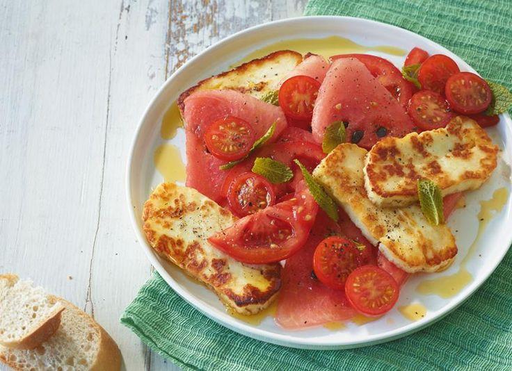 Tomaten-Melonen-Salat Rezept - [ESSEN UND TRINKEN]