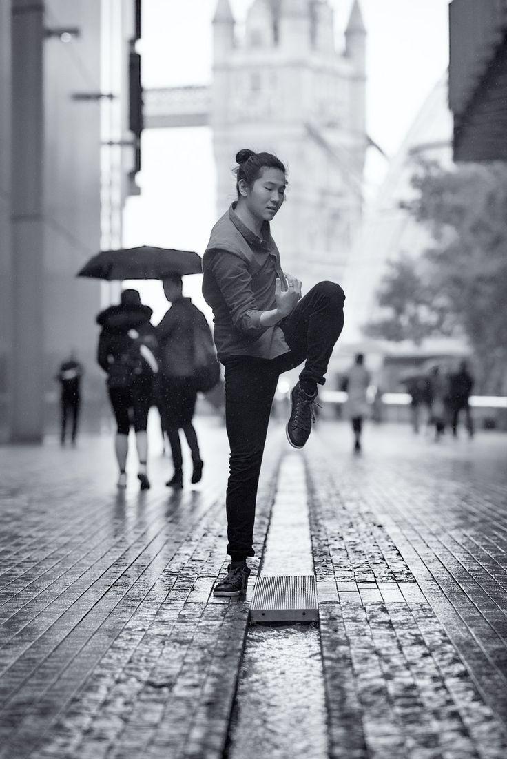 RAIN DANCE series ⫩Southwark, More London Riverside, London dancer: Daniel Persson