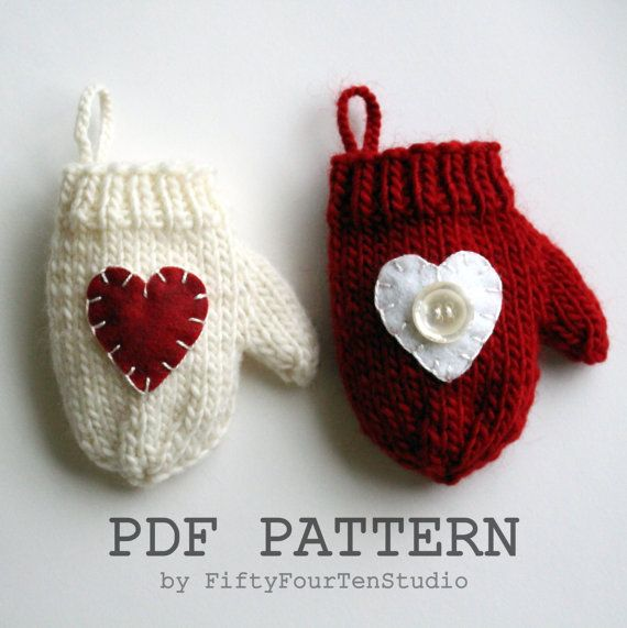 Heart Decoration Knitting Pattern : 88 best images about Fifty Four Ten Studio - Knitting ...