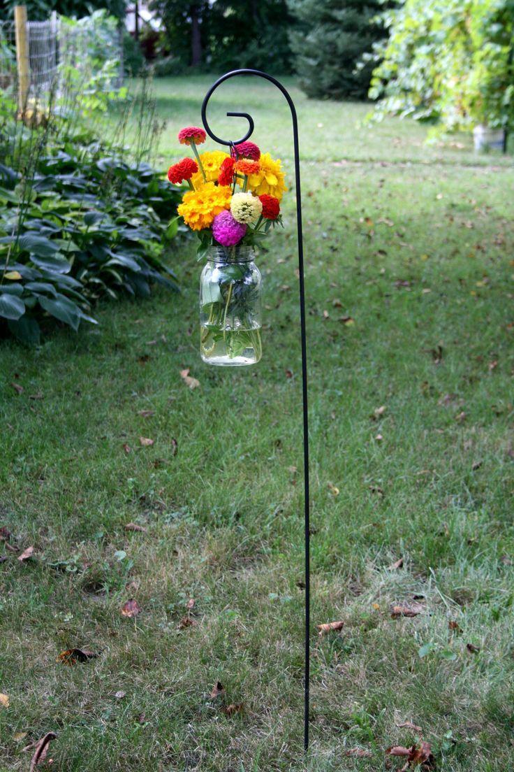 "Set of 6 - 36"" Medium Scroll Shepherd Hook Small Garden Hanger Wedding Supplies. $29.95, via Etsy."