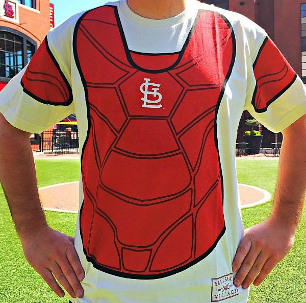 Our away game giveaways are back! The first 500 fans who come to watch the @cardinalsmlb game tomorrow (4/5) at 6:05 PM will get this FREE catchers shirt. #stlcards #cardinalnation
