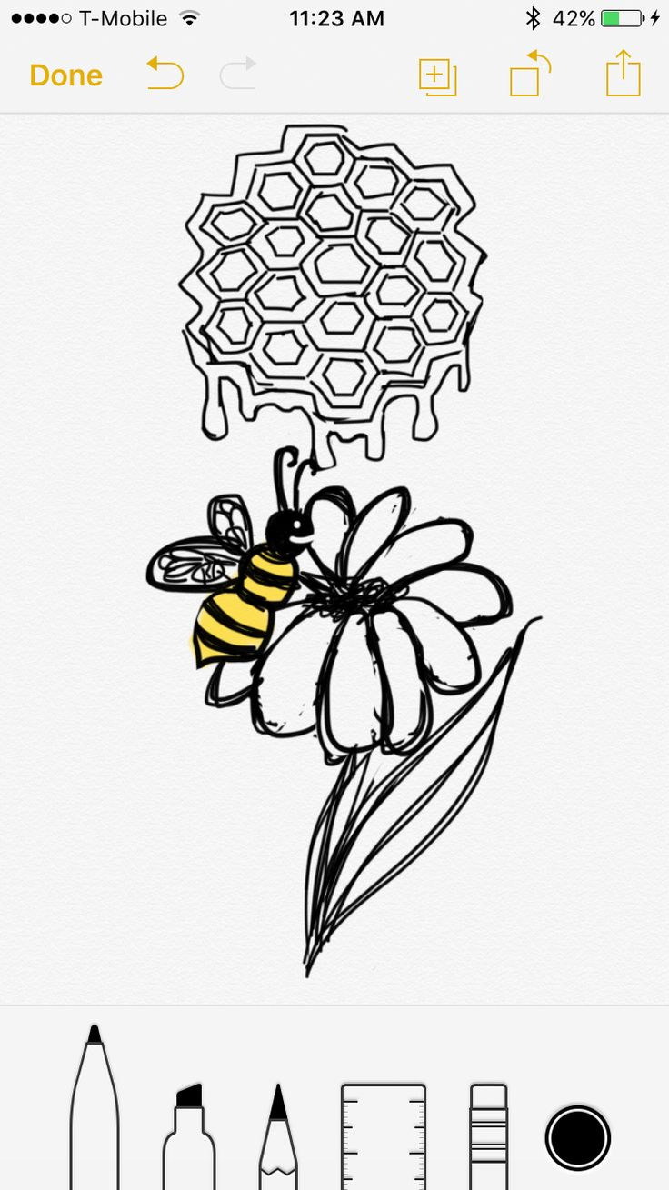 Another Honeycomb bee semicolon tattoo design but this one has a flower  feel free to use my designs for your semi colon tattoo but please please please send me pics of the finished result! I don't care if you alter it, I just wanna see!!
