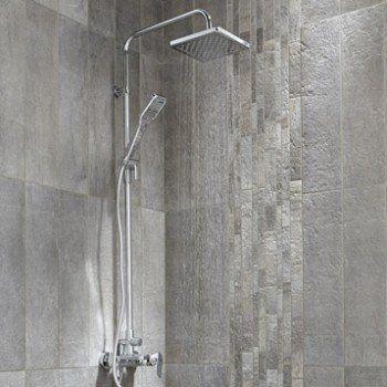 Colonne de douche et bain avec robinetterie, SENSEA Remix   Leroy Merlin