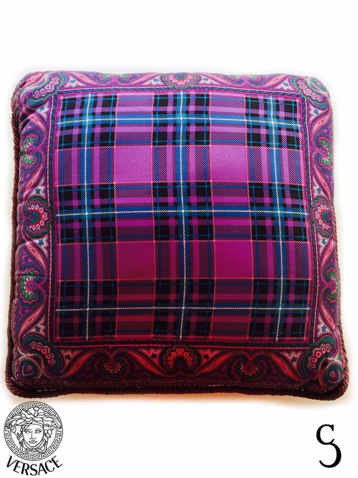 Authentic Gianni Versace Atelier Vintage Pillow Two Side Pattern #GianniVersaceAtelier