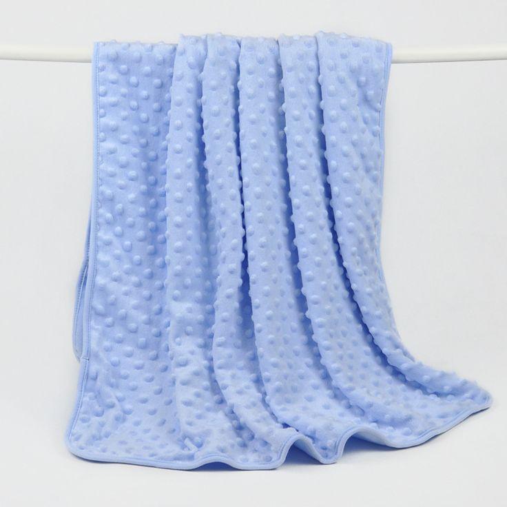 Luvable Friends Newborn Baby Blankets Winter Baby Blanket & Swaddling Fleece Minkey Dots Fabric for Baby Blanket Bedding Set