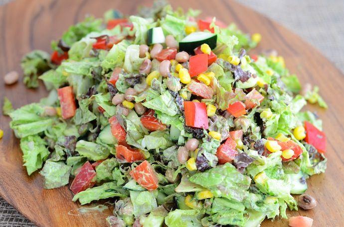 Vegan Southwest Chopped Salad | Girl Makes Food
