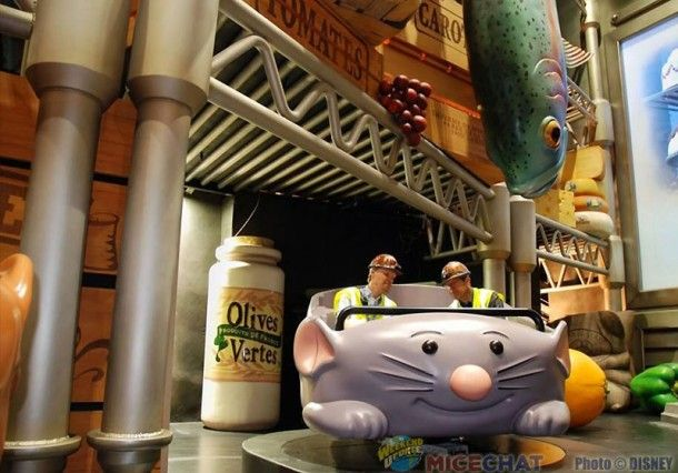Ratatouille ride in Disneyland Paris