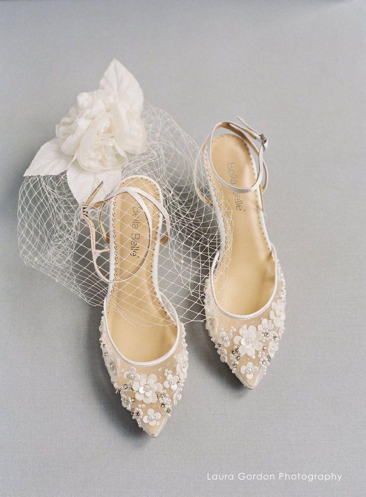 Pin On Brautkleid Schuhe Flach
