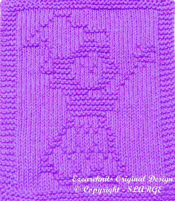 Knitting Cloth Pattern  FAIRY  Instant Downloads  by ezcareknits, $3.00