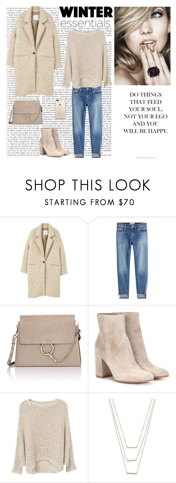 """Untitled #173"" by dorey on Polyvore featuring MANGO, Frame, Chloé, Gianvito Rossi and ERTH"