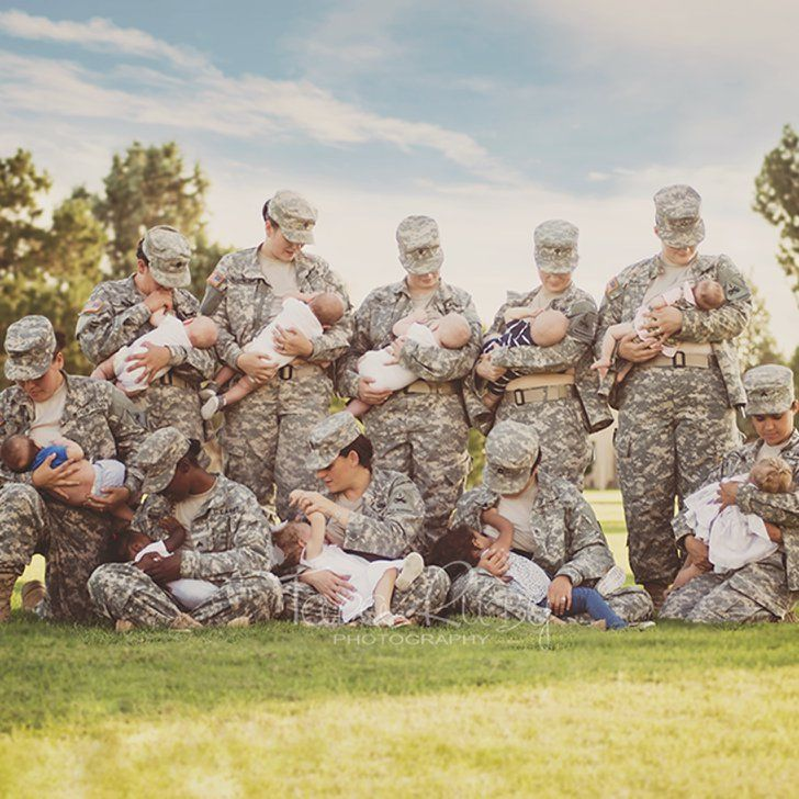 This Is the Photo of Military Moms Breastfeeding in Uniform That's Going Viral