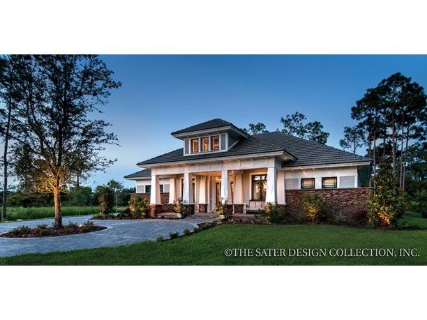 43 best craftsman and prairie style home plans the sater for Craftsman prairie style house plans