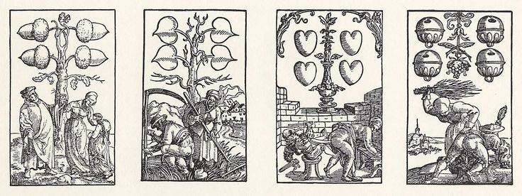 Artist: Flötner, Peter, Title: »Kartenspiel«, Vierer, Date: ca. 1535