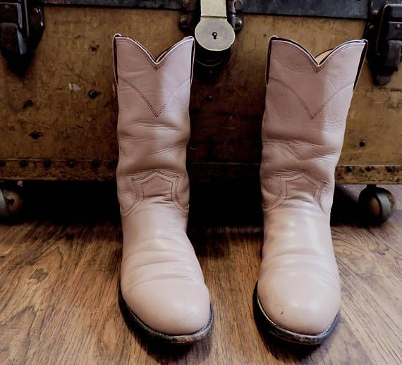 4fabc78e12d Pink Justin boots 6.5 EU 37 / dusty rose cowgirl boots / | cowboy ...
