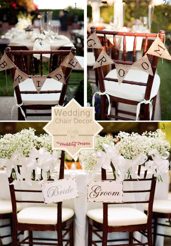 beautiful chair decorations wedding ideas bride and groom signs