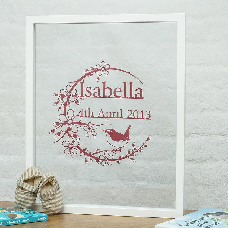 personalised baby girl papercut by rosie and the boys | notonthehighstreet.com