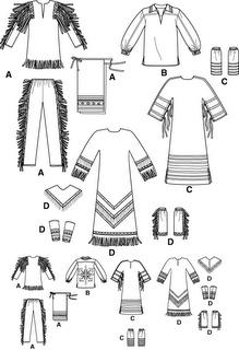 disfraz de indio con patrones | Trato o truco