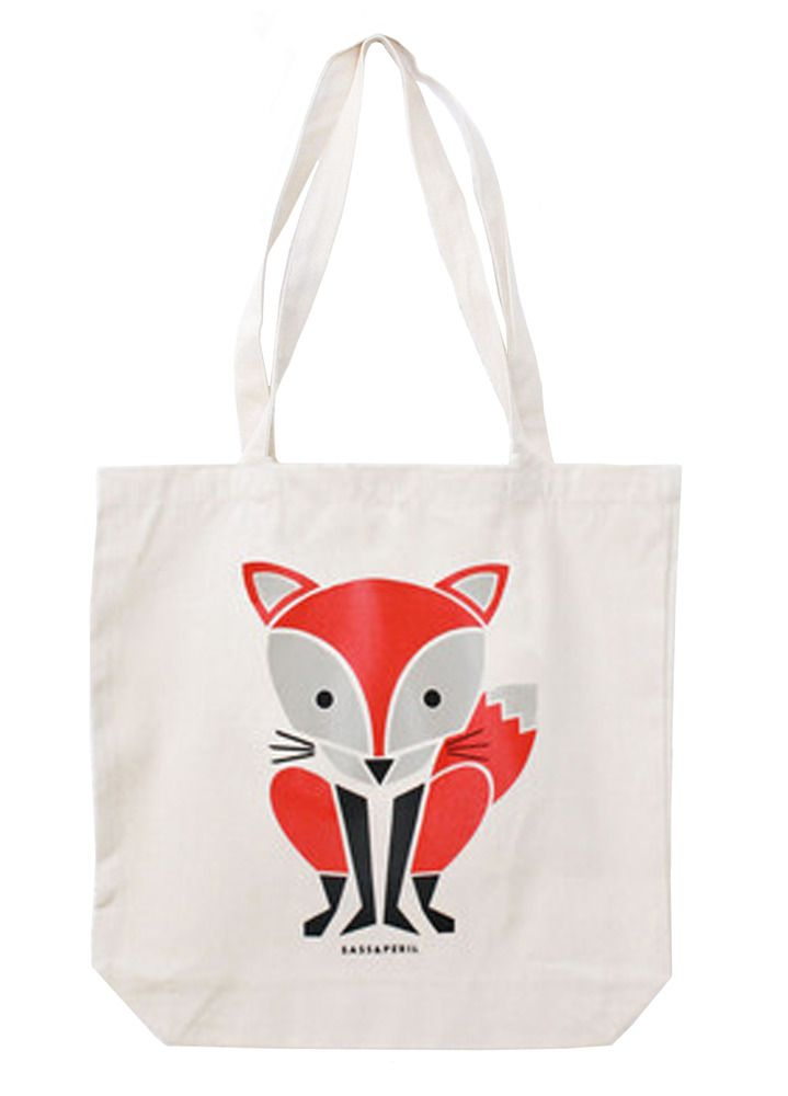 Red Fox tote by Sass & Peril from Totes Amazed http://www.totesamazed.co.uk £15.00