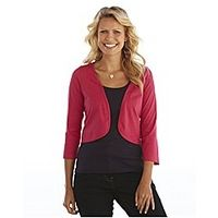 3/4 Sleeve Jersey Shrug - Large Size Clothing and Maternity Wear - www.plussizedglamour.co.uk