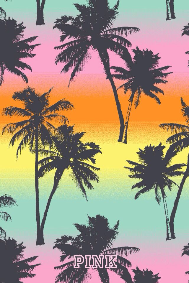 Palm trees pink summer IPHONE WALLPAPER, BACKGROUNDS