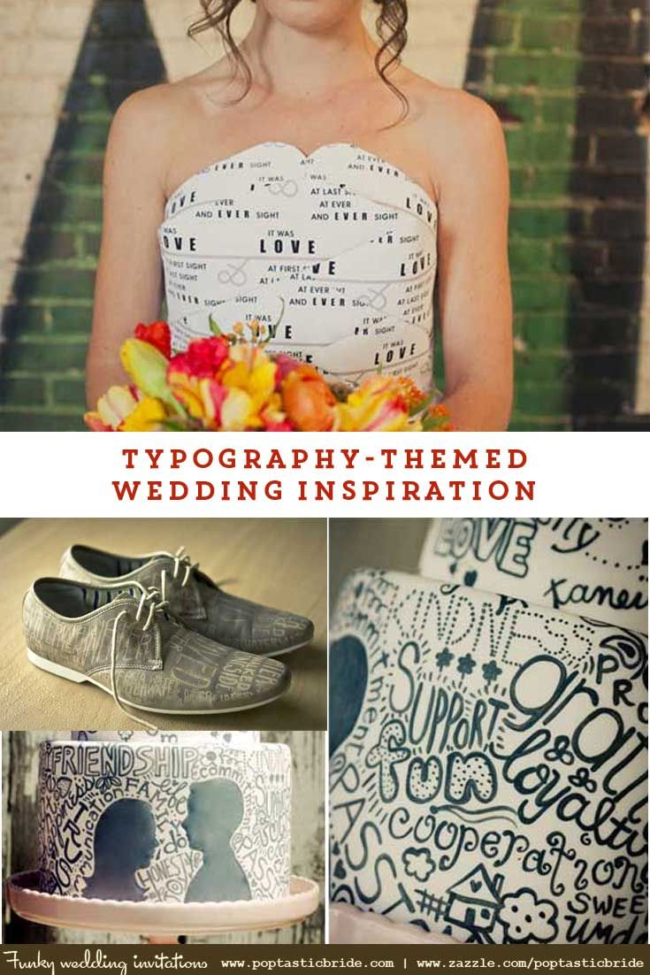 typography theme wedding inspiration | graphic design themed wedding ideas | graphic designers wedding | typography designer wedding - Please click on the image to visit the site and read more.