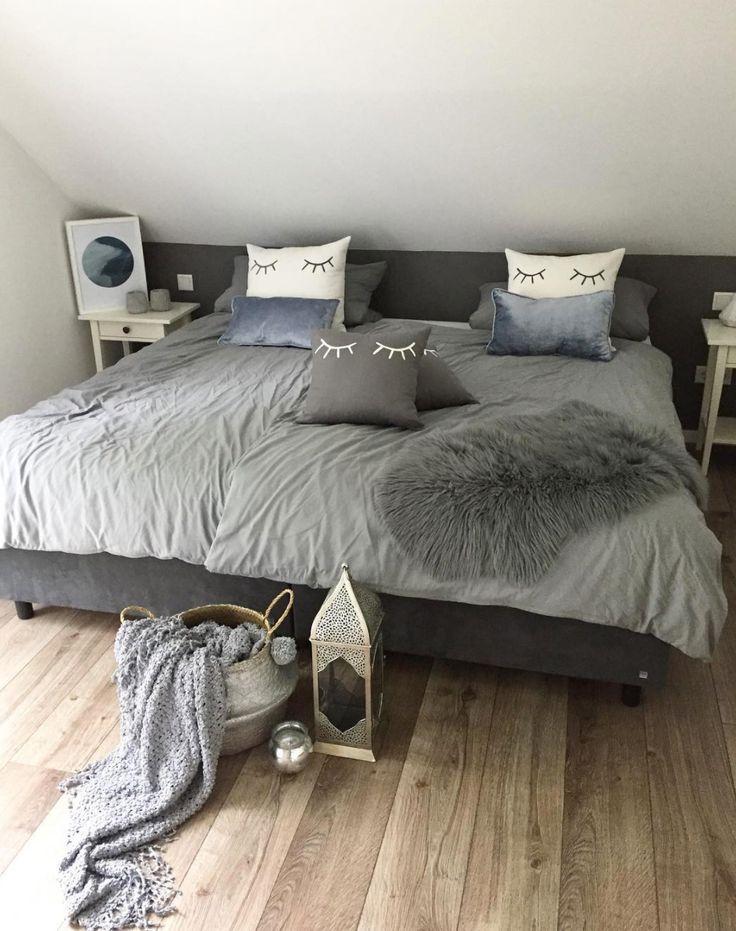Die besten 25 graues bett ideen auf pinterest graues - Rotes schlafzimmer ...