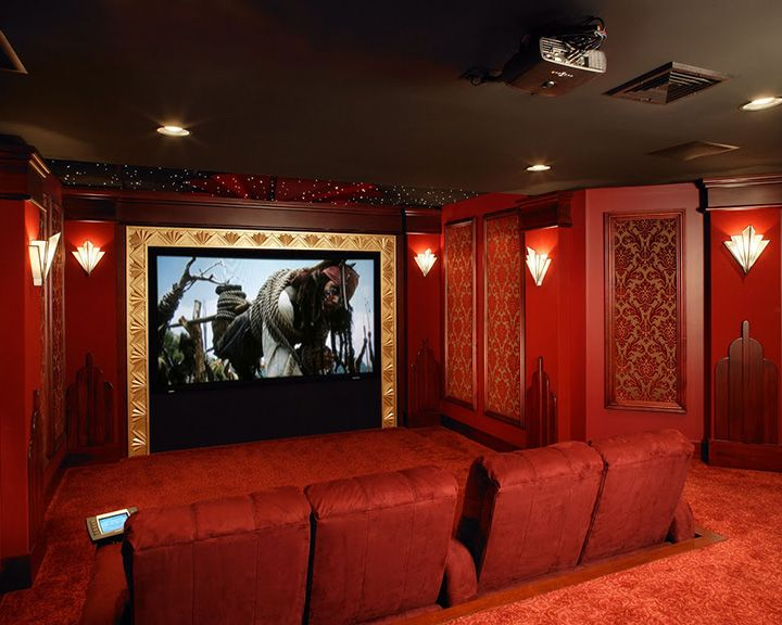 gorgeous home theaters red bordeaux home theaters pinterest theatre design small media. Black Bedroom Furniture Sets. Home Design Ideas