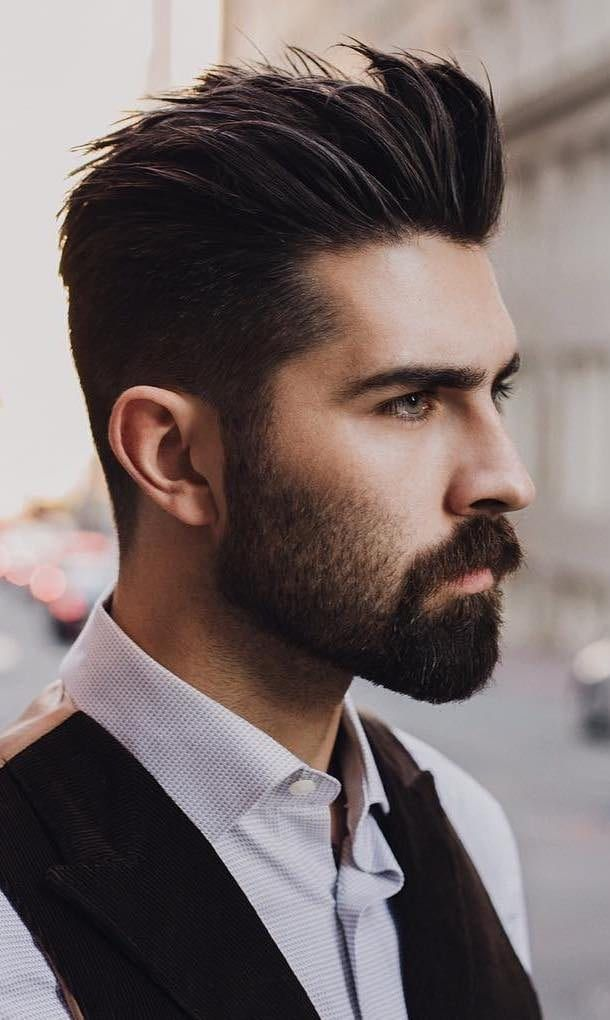 Handsome And Cool The Latest Men S Hairstyles For 2019 Beard Styles Short Mens Hairstyles Short Spiked Hair