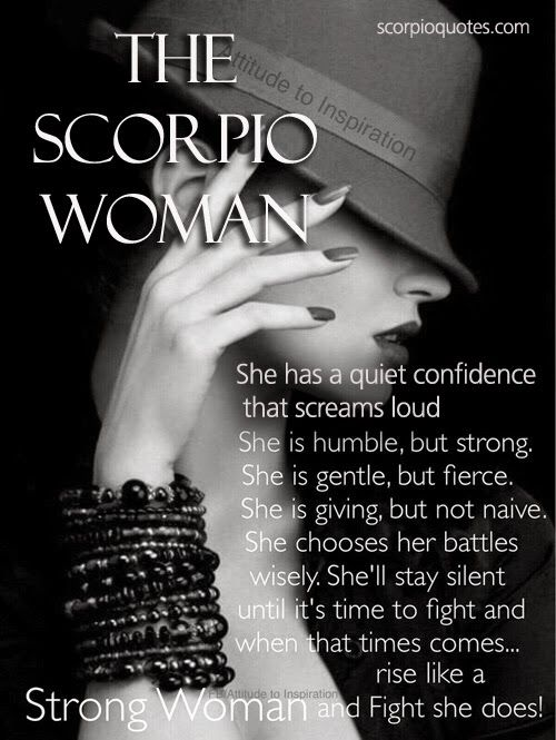 The Scorpio Woman Traits #003: | Scorpio Quotes