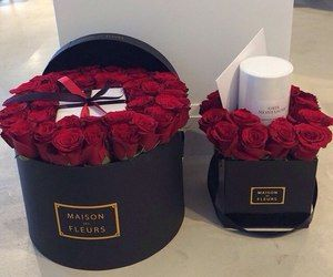 maison des fleurs roses in a box | rose, roses, flowers, bouquet, love, red, girls, sexy