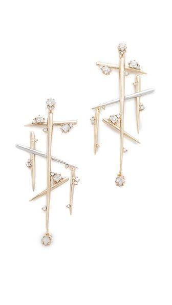 Alexis Bittar Satellite Crystal Dangling Spike Earrings
