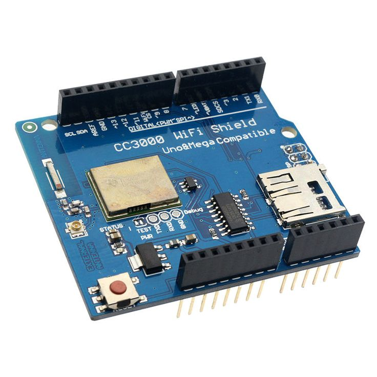 CC3000 WiFi Shield for Arduino R3 With SD Card Supports for Mega 2560 with Anti Static Bag
