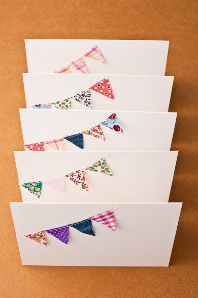 Adorable... could make out of party fabric for invites!