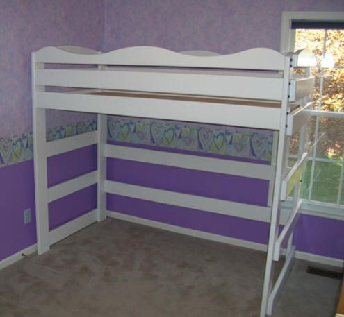 White Princess Style Loft Bed