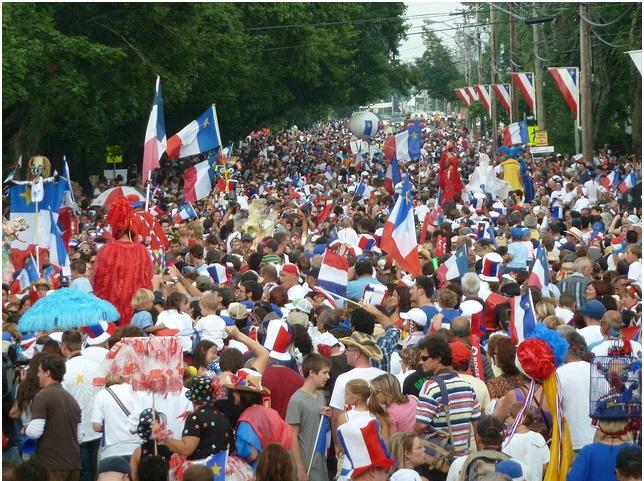La fête nationale de l'Acadie à Caraquet, Nouveau-Brunswick
