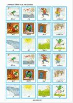 Letterspel - Kikker in de kou - plaatjes