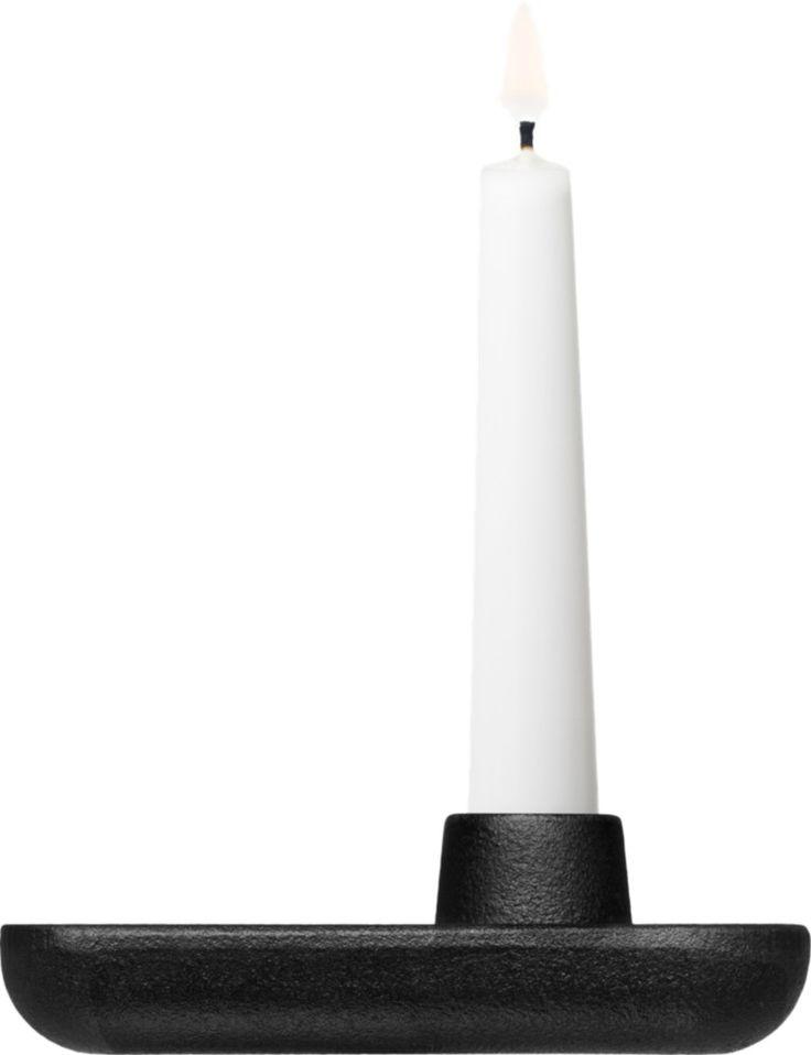 Iittala - Allas Candle holder cast iron square 125 x 90 mm - Iittala.com