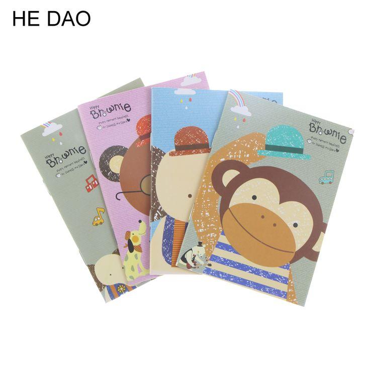 1Pcs Korean Creative Stationery Notepad Office Supplies School Cartoon Animals Style Notebook Diary Students Diary 2017
