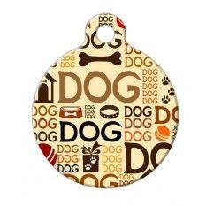 Placa Diseño Dog Dog Dog / Nombre - Telf.
