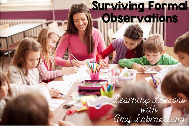 Step by step guide to planning for a formal observation.  Learning Lessons with Mrs. Labrasciano