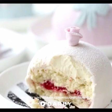 How to Make a Swedish Princess Cake #darbysmart #baking #strawberries #fondant #cake