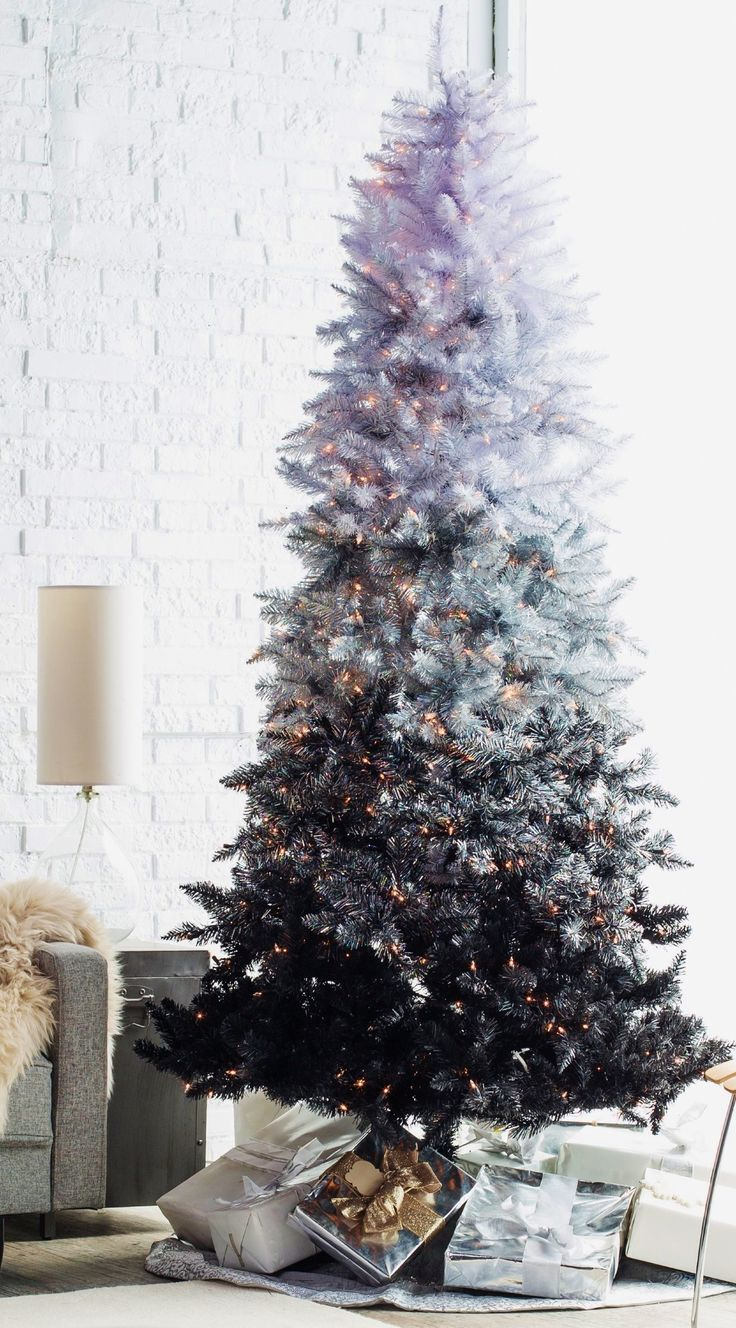 Black Ombre Spruce Christmas Tree